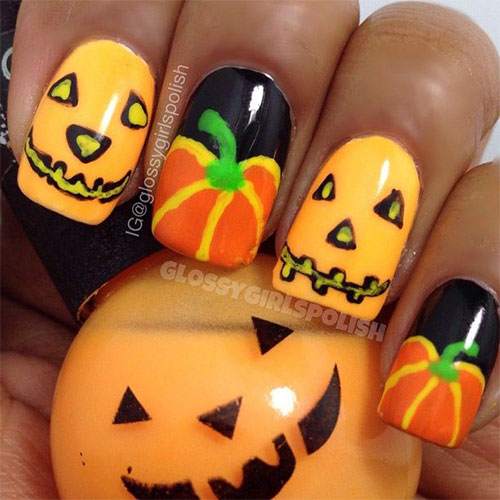 20-Inspiring-Scary-Halloween-Pumpkin-Nail-Art-Designs-Ideas-Stickers-2014-3