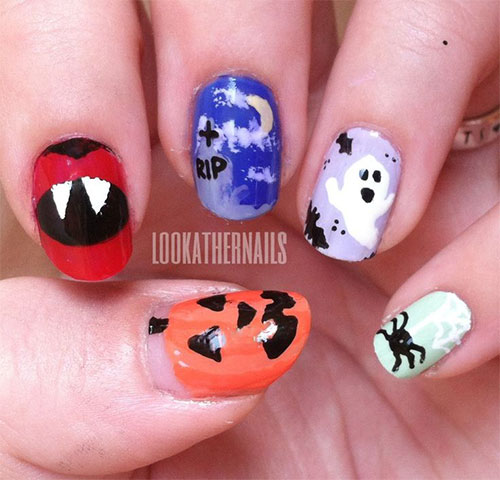 20-Inspiring-Scary-Halloween-Pumpkin-Nail-Art-Designs-Ideas-Stickers-2014-6
