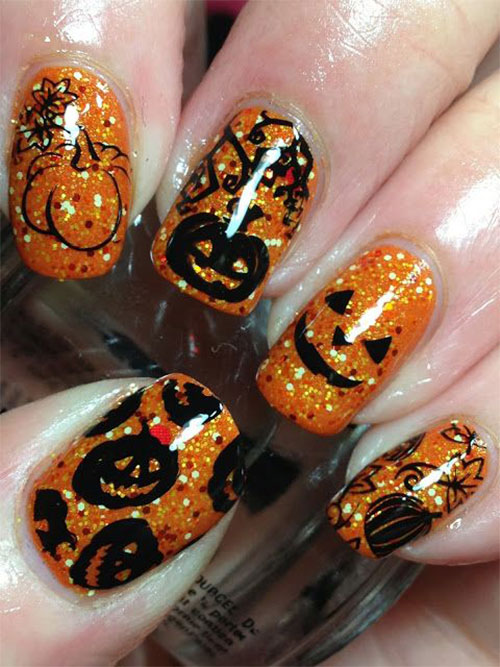 20-Inspiring-Scary-Halloween-Pumpkin-Nail-Art-Designs-Ideas-Stickers-2014-8