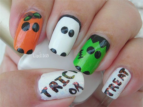25 Easy Yet Scary Halloween Nail Art Designs Ideas Trends