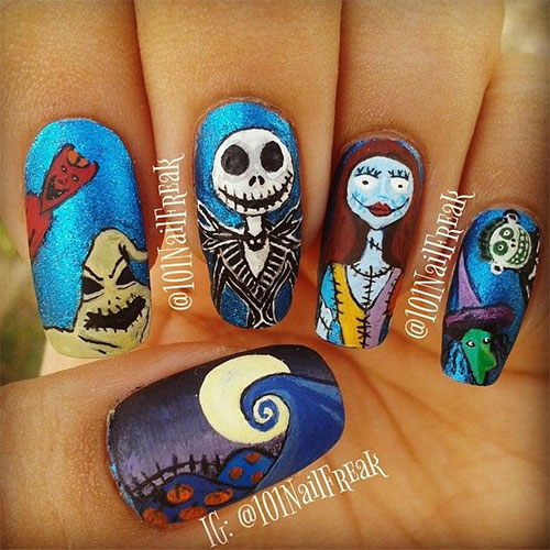 25-Scary-Halloween-Nails-Art-Designs-Trends-Stickers-2014-1