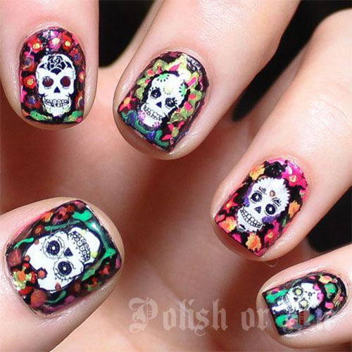 25 Clever And Scary Nail Art Ideas For Halloween 2014