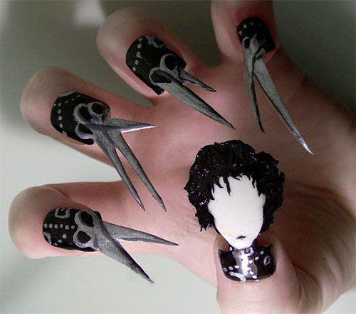 Halloween scary nails best nails 2018 25 clever and scary nail art ideas for 2016 finding prinsesfo Images