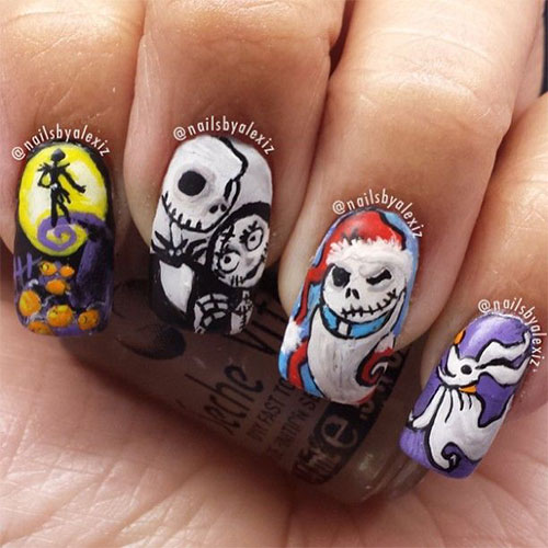 The Ten Scariest Nail Art Designs For Halloween: 25 Scary Halloween Nails Art Designs, Ideas, Trends