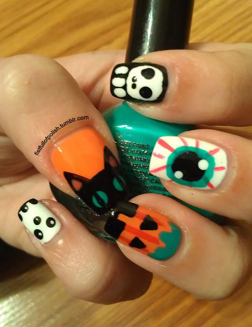 25-Scary-Halloween-Nails-Art-Designs-Trends-Stickers-2014-9
