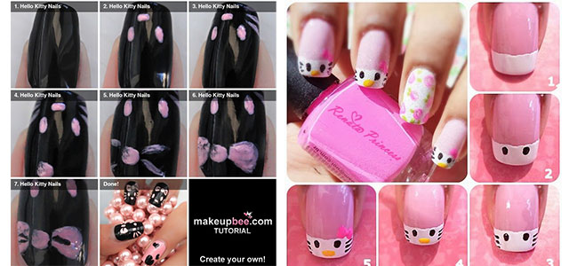 Girls Hair Nail Style Httpgirlshueeasy Hello Kitty