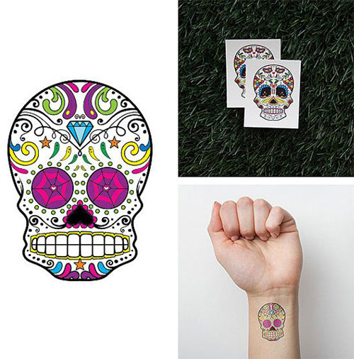 10-Small-Cute-Halloween-Themed-Fake-Tattoo-Designs-Ideas-2014-6