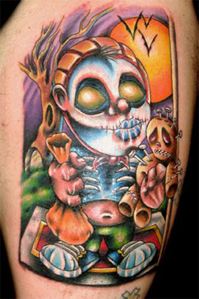 12-Scary-Halloween-Themed-Temporary-Tattoo-Designs-Ideas-2014-7