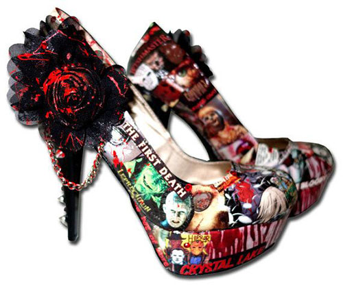 15 cheap scary halloween high heels shoes for