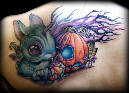 15-Cool-Pumpkin-Halloween-Inspired-Temporary-Tattoo-Designs-Ideas-2014-10
