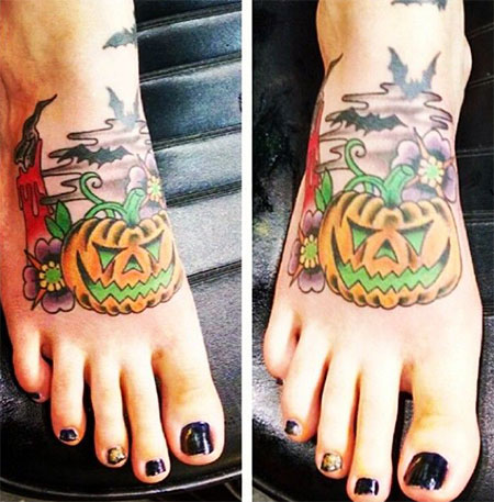 15-Cool-Pumpkin-Halloween-Inspired-Temporary-Tattoo-Designs-Ideas-2014-11