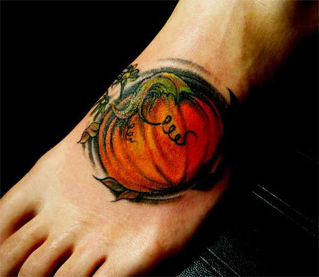 15-Cool-Pumpkin-Halloween-Inspired-Temporary-Tattoo-Designs-Ideas-2014-15