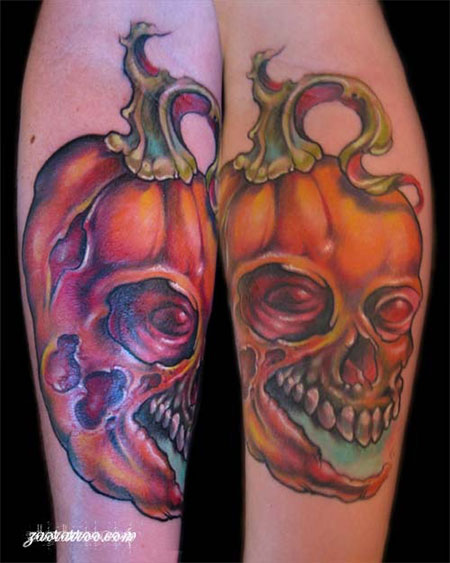 15-Cool-Pumpkin-Halloween-Inspired-Temporary-Tattoo-Designs-Ideas-2014-2