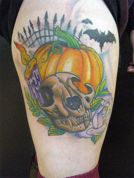 15-Cool-Pumpkin-Halloween-Inspired-Temporary-Tattoo-Designs-Ideas-2014-5