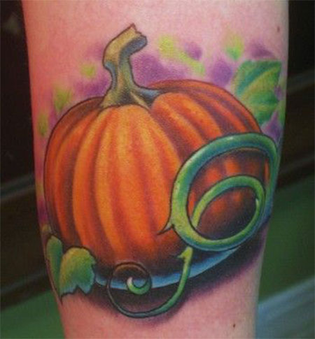15-Cool-Pumpkin-Halloween-Inspired-Temporary-Tattoo-Designs-Ideas-2014-7