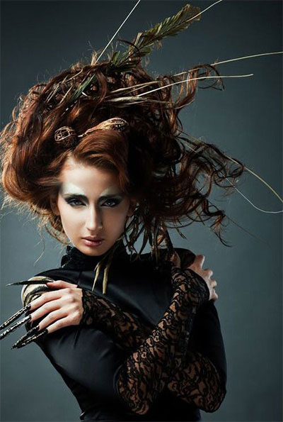 30 Crazy Amp Scary Halloween Hairstyle Ideas For Girls Amp Women 2014 Girlshue