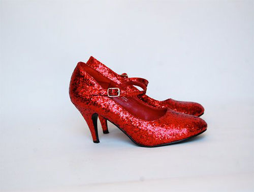 Jimmy Choo Red Glitter Shoes For Women