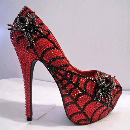 stylish scary halloween high heels shoes boots for