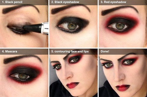 15 Easy Step By Step Halloween Make Up Tutorials For - Simple Halloween Makeup