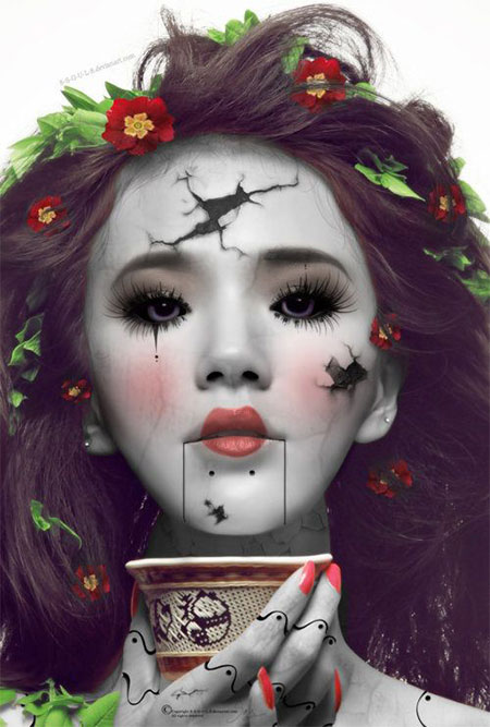 15-Scary-Doll-Halloween-Make-Up-Looks-Ideas-Trends-2014-For-Girls-3