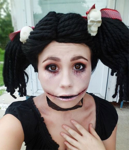 15 scary doll halloween make up looks ideas