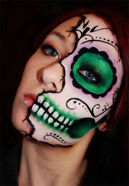 18-Best-Halloween-Half-Face-Teeth-Mouth-Make-Up-Looks-Ideas-2014-14