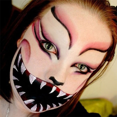 18-Best-Halloween-Half-Face-Teeth-Mouth-Make-Up-Looks-Ideas-2014-17