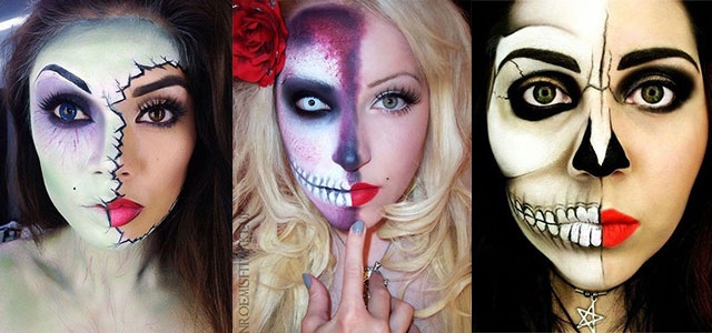 18-Best-Halloween-Half-Face-Teeth-Mouth-Make-Up-Looks-Ideas-2014