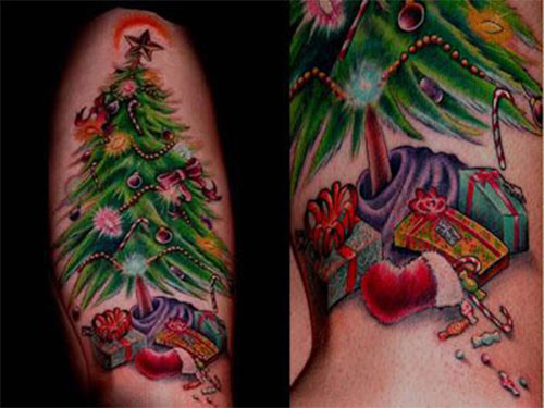 10-Inspiring-Christmas-Tattoos-Designs-Ideas-For-Girls-Women-2014-4