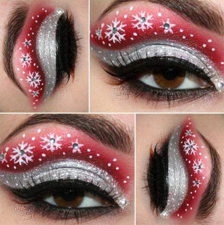 12-Christmas-Eye-Make-Up-Looks-Ideas-Trends-Designs-For-Girls-2014-3