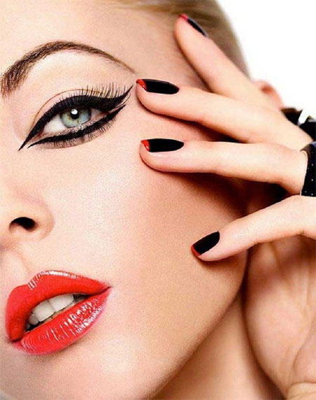 12-Christmas-Face-Make-Up-Looks-Ideas-Trends-Designs-For-Girls-2014-11