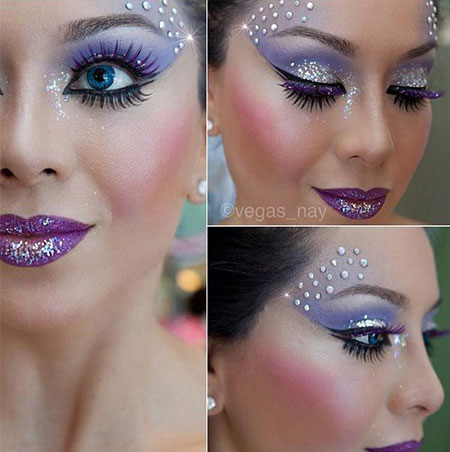 12-Christmas-Fantasy-Make-Up Ideas-Looks-Designs-For-Girls-2014-1