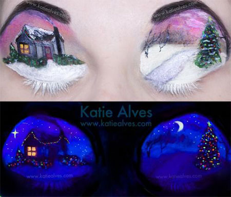 12-Christmas-Fantasy-Make-Up Ideas-Looks-Designs-For-Girls-2014-12