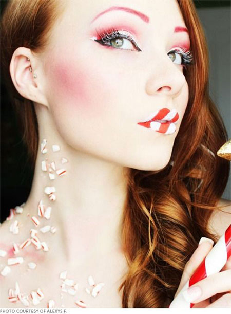 12-Christmas-Fantasy-Make-Up Ideas-Looks-Designs-For-Girls-2014-5