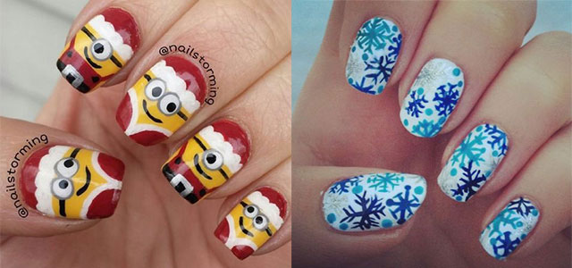30 Best Christmas Nail Art Designs, Ideas, Trends & Stickers 2014 | Xmas  Nails | Girlshue - 30 Best Christmas Nail Art Designs, Ideas, Trends & Stickers 2014