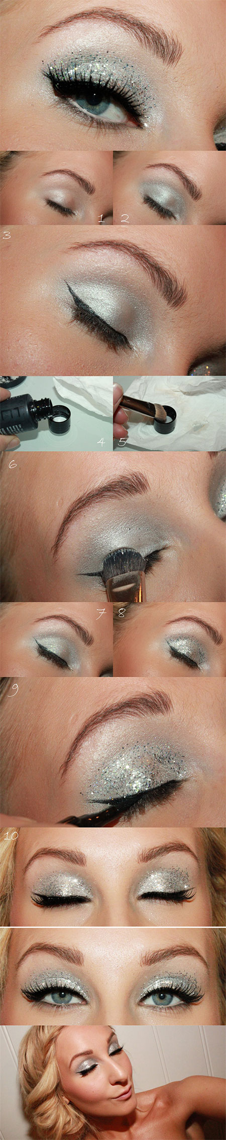 Easy-Step-By-Step-Christmas-Make-Up-Tutorials-For-Beginners-Learners-2014-3