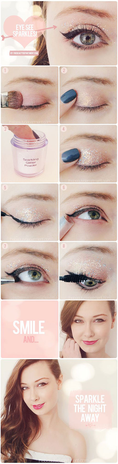 Easy-Step-By-Step-Christmas-Make-Up-Tutorials-For-Beginners-Learners-2014-4