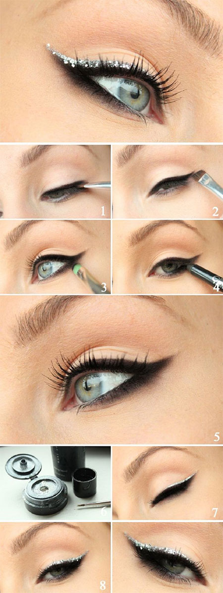 Easy-Step-By-Step-Christmas-Make-Up-Tutorials-For-Beginners-Learners-2014-7