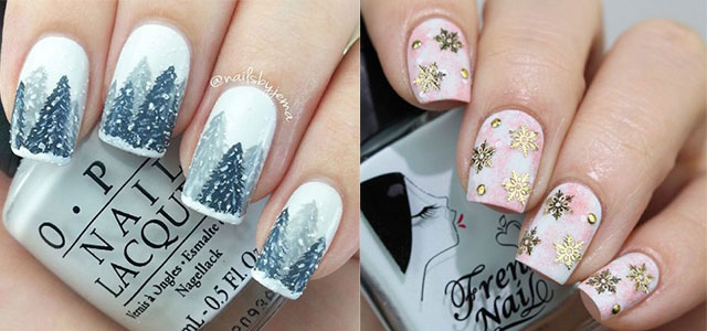 15+ Winter Nail Art Designs, Ideas, Trends & Stickers 2015 - Easy Step By Step Winter Nail Art Tutorials For Beginners