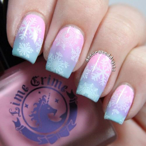 18 snowflake nail art designs ideas trends stickers 2015 18 snowflake nail art designs ideas trends stickers prinsesfo Images
