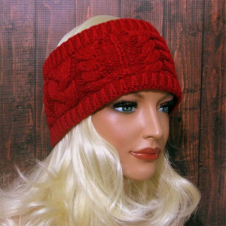 20+ Cool Winter Knit/ Pattern & Braided Headbands For ...