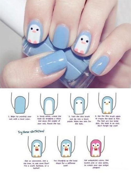 Easy Step By Step Winter Nail Art Tutorials For Beginners & Learners ...