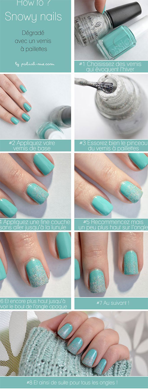 Easy Step By Step Winter Nail Art Tutorials For Beginners ...
