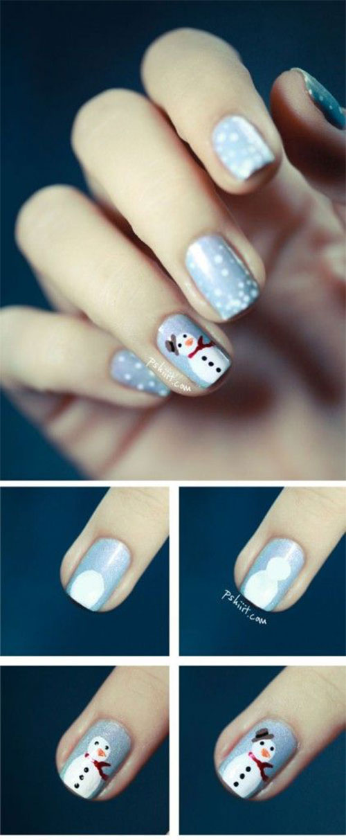 Easy-Step-By-Step-Winter-Nail-Art-Tutorials-For-Beginners-Learners-2015-6