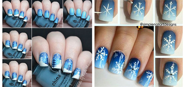 Easy-Step-By-Step-Winter-Nail-Art-Tutorials-For-Beginners-Learners-2015