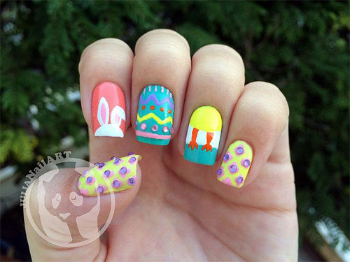 12 Easter Egg Bunny Nail Art Designs Ideas