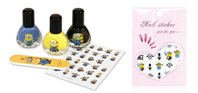Cute-Minions-Fake-False-Finger-Nail-Stickers-2015-Minion-Nails