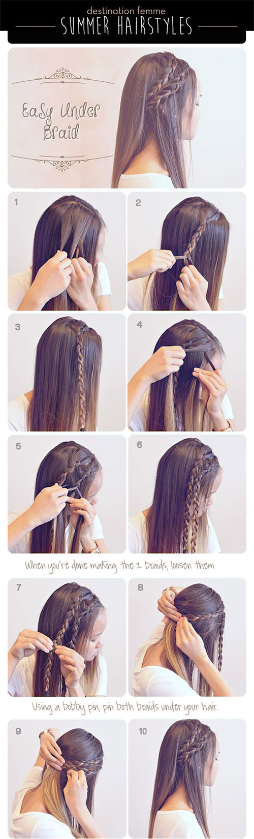 15 step by step summer hairstyle tutorials for beginners