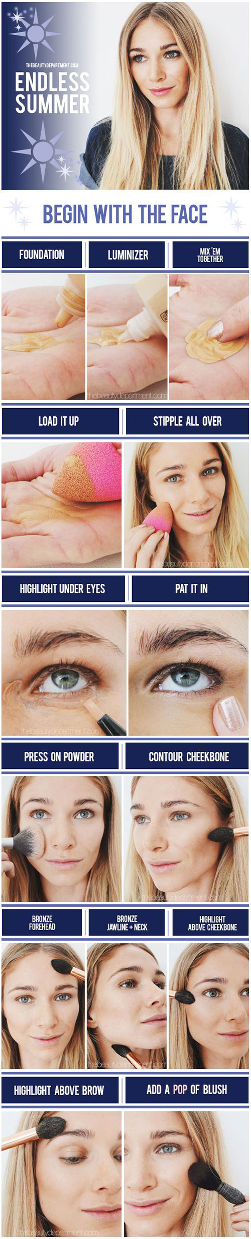 Step-By-Step-Summer-Make-Up-Tutorials-For-Beginners-Learners-2015-3