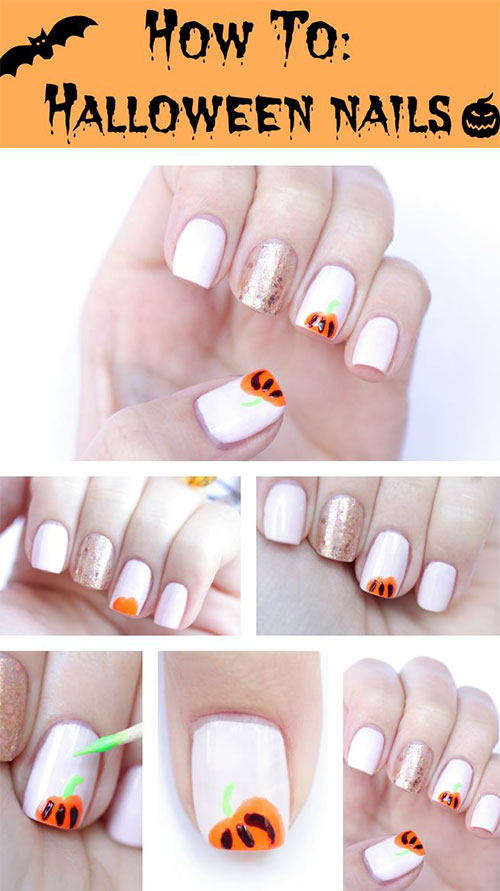 10-Simple-Easy-Halloween-Nail-Art-Tutorials-For-Beginners-2015-7